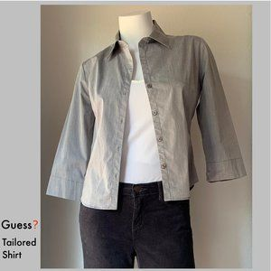 🔹NWOT Classic Guess? tailored shirt, 3/4 sleeves